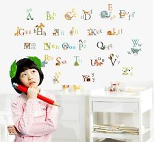 ABC Alphabet Animals Wall Stickers Decals Boy Girl Kids Nursery Home Art Decor