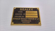 CHASSIS PLATE BRASS HEALEY austin sprite donald blank id badge emblem motif
