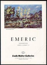 1968 Emeric Vagh Weinmann Palm Springs Desert NYC gallery show vintage print ad