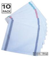 10x Professional Catering Glass Cloths Cotton Tea Towels Kitchen Restaurant