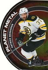 16/17 Fleer Showcase Metal Universe Planet Metal Patrice Bergeron #11 Bruins