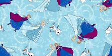 Fat Quarter Disney Frozen Sisters Skating Toss 100% Cotton Quilting Fabric
