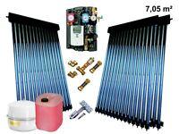 Solaranlage Komplettpaket Vakuum Röhrenkollektor HeatPipe Power Kollektor 7.05m²