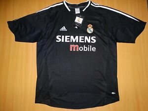 NEW REAL MADRID 2004 2005 AWAY shirt camiseta Football L soccer vintage ADIDAS