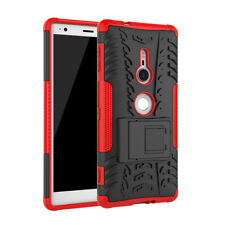 Heavy Duty Rugged ShockProof Armor Kickstand Case Cover For Sony Xperia XZ2