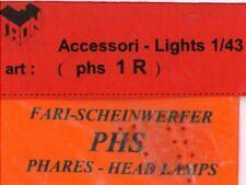 Accessori 1/43 FARI ROSSI 1,0mm  TRON   PHS1R