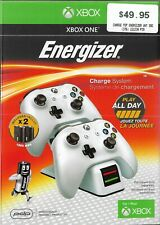 Genuine Xbox One Energizer Charge System Play all day Brand new White AU SELLER