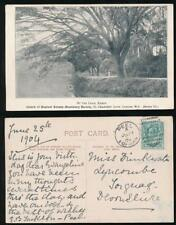 CEYLON 1904 PPC CHURCH of ENGLAND MISSIONARY SOCIETY KANDY LAKE USED PEEL IoM