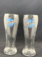 Lot Of 2 Blue Moon 16 Oz Pilsner Beer Glass Bar Pint Glasses New