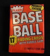 1981 Fleer Baseball Wax Pack (x1)  Fresh From Box!