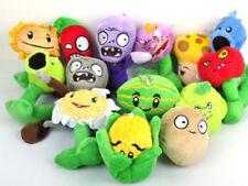 14pcs lot 3.5''~7'' Plants VS Zombies Collection Plush Toy Soft Stuffed Dolls