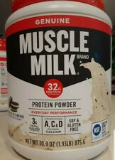 Muscle Milk Lean Muscle COOKIES N CREAM Flavor 32g Protein Powder - 1.93 lbs x 2