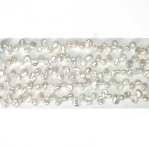 White Freshwater Pearl Beads Keshi Style Approx 7 x 9mm Strand Of 65+