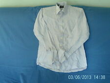 "Mens 16"" Collar - Liilac/White Mixed Weave Long Sleeve Shirt - Pierre Cardin"