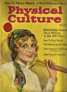 Vintage Weightlifting-Bodybuilding  PHYSICAL CULTURE MAGAZINE-May, 1928
