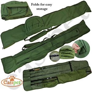 Fishing Rod Reel Bag 3+3 12ft Made Up Carp Coarse Padded Tackle Holdall Easipet