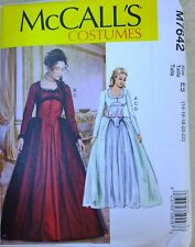 McCall's 7642 Steampunk Victorian Costume Gown 2 Looks 14-22 NEW Sewing Pattern