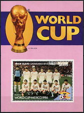 Union Is. Grenadines Of St. Vincent 1986 $1.85 World Cup Football MNH M/S #D7401