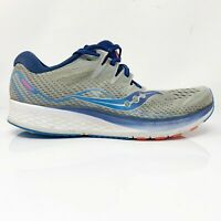 Saucony Mens Ride ISO 2 S20514-1 Gray Blue Running Shoes Lace Up Size 9.5