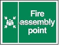 Fire Assembly Point Sign Safety Signs Australian Made Quality Printed Sign