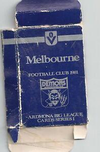 1981 Ardmona big league series 1 Melbourne box only no cards Fair condition