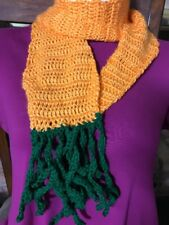 Scarf ORANGE CARROT SHAPED EASTER HALLOWEEN Crochet Knit Handmade -FREE SHIPPING