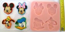MICKEY MOUSE MINNIE GOOFY DONALD DUCK SILICONE MOULD FOR CAKE TOPPERS, CLAY ETC