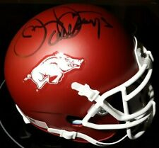 Jerry Jones Arkansas Razorbacks Autographed  Mini Helmet Signed w COA #1