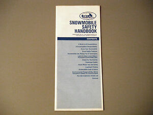 1973 Vintage ISIA Snowmobile Safety Handbook