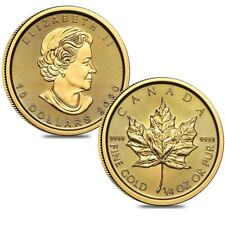 Lot of 2 - 2020 1/4 oz Canadian Gold Maple Leaf $10 Coin .9999 Fine BU (Sealed)
