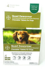 New listing Bayer Puppies and Small Dog 2-25lb 4 Count Quad Chewable Dewormer Exp 2023