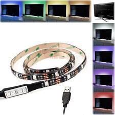 RGB LED Bias Lighting For TV LCD HDTV Monitors USB LED Strip Background Light