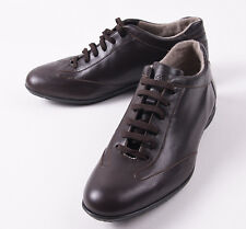 NIB $575 CANALI 1934 Dark Brown Calf Leather Sport Sneakers US 7 D Shoes