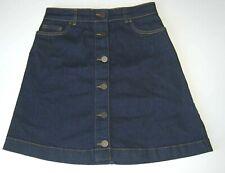Oasis Denim Skirt Button Detail Size 8 BNWOT