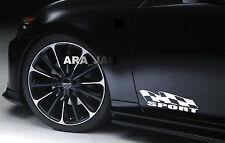 SPORT flag Vinyl Decal racing sticker emblem speed car logo door WHITE