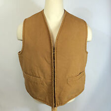 ViNtAgE Carhartt Canvas Work Chore Vest USA CoAt JaCkEt XL Sherpa Lined