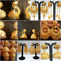 Earrings 22K Gold Plated Indian Designer Variation Different party Jhumka a