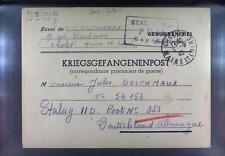 Camp Stalag IID Stargard 1940 POW Prisoner of War Kriegsgefangenenpost L31