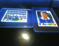 PANINI ZIDANE FRANCE 98 NEW N° 164 + N° 156 WORLD CUP 98 COUPE DU MONDE NEUF