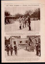 Ecôle Polytechnique Général Curmer Drapeaux Légion d'Honneur 1919 ILLUSTRATION