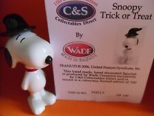 More details for rare wade whimsie trick or treat snoopy c&s with box and cert ltd ed.