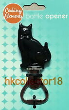 Cooking Elements Bottle Opener Black Cat NEW