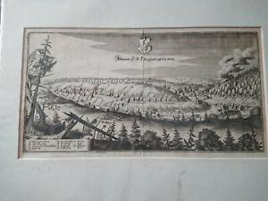 Original Merian Kupferstich Altenau im Harz 1650 TOP