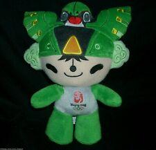"10"" BEIJING 2008 GREEN OLYMPICS MASCOT FUWA NINI STUFFED ANIMAL PLUSH TOY DOLL"