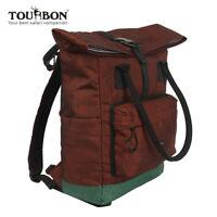 Tourbon Shopper Totepack Roll-Top Rucksack Fahrradtasche Gepäckträger Unisex