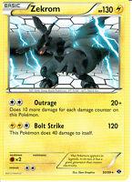 POKEMON BLACK AND WHITE EXPANSION RARE FOIL CARD 47/114 ZEKROM nm