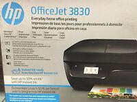New HP OfficeJet 3830/3833 Printer/copy/scan-wireless-Fax+setup INK-school
