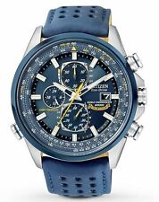 New Citizen Eco-Drive AT8020-03L Blue Angels Chronograph Atomic Mens Watch