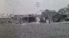 Steam Farm Tractor Engine and Thresher Crew Photo 1900