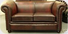 Chesterfield leather suite chair sofa B/NEW